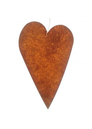 Rostige Herz Tafel XL | blanko