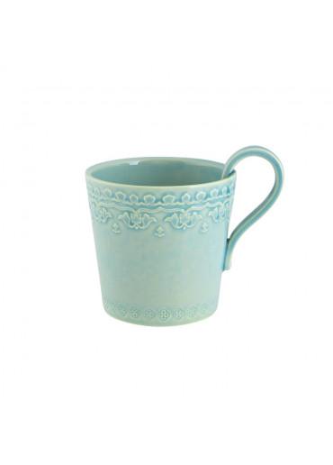 Keramik Becher Rua Nova groß aqua