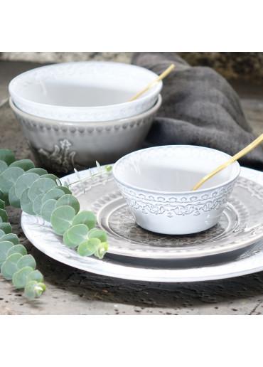 Rua Nova Keramik Schale klein antikweiß