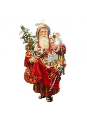 Nostalgie Santa Metall zum Hängen