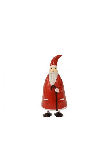 "Metall Santa ""Olaf"" M mit Stock H20 cm"