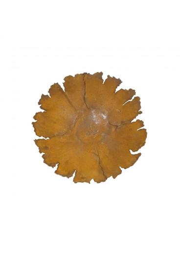 Edelrost Riss-Schale auf Platte