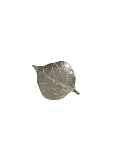 "Blatt Schale ""Bodhi"" klein Aluminium vernickelt"