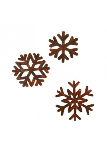 Rostige Schneeflocken S 3er Set