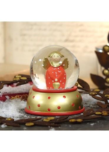 Schneekugel Engel Lotta Rot von Pape