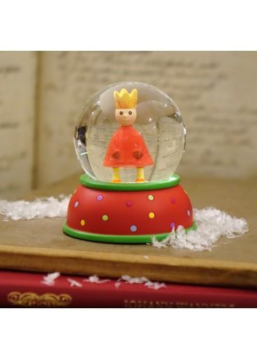 Schneekugel King rot mit Glitter und Schnee
