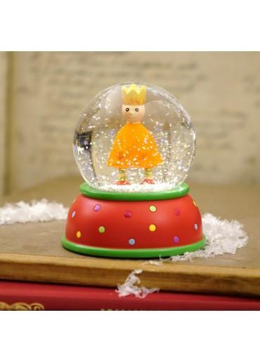 Schneekugel King orange mit Glitter und Schnee