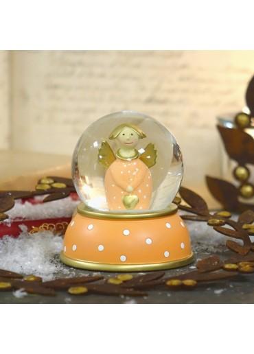Schneekugel Engel Lotta Apricot von Pape