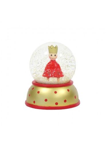 Schneekugel mit rotem König