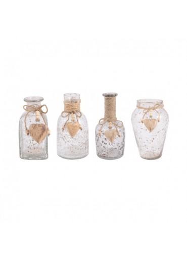 """Glas Vasen """"Natura"""" 4er Set groß"""