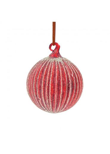 SHISHI Christbaumkugel rot gefrostet