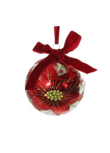 "Shishi Christbaumkugel ""Poinsettia"" M"