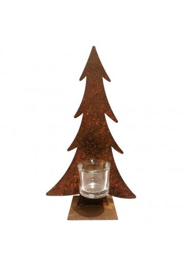 Rostiger Tannenbaum mit Glas