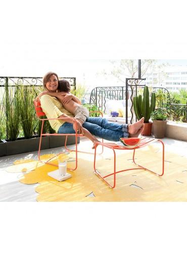 Fermob Outdoor Teppich Trèfle XXL Pineapple 200 x 200 cm