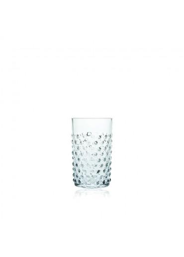 Mundgeblasenes Hobnail Trinkglas mit Noppen