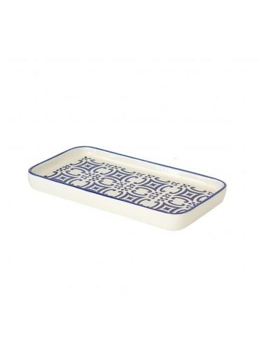Portugiesische Keramik Platte mit Azulejo/Mosaik-Motiv in dunkelblau von Vista Portuguese