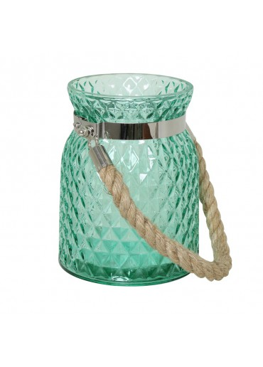 Windlicht Alvito groß Glas grün