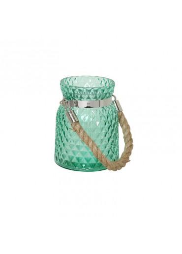 Windlicht Alvito klein Glas grün
