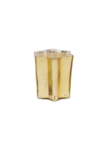 """Windlicht Stern """"Sparkle"""" antik champagner M"""