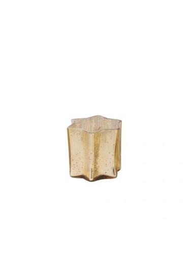 """Windlicht Stern """"Sparkle"""" antik champagner XS"""