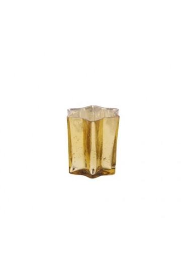 """Windlicht Stern """"Sparkle"""" antik champagner S"""