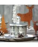 Nordische Tischdeko mit nostalgischer Glas Bonboniere