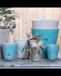 Grün und Form Keramik Übertöpfe