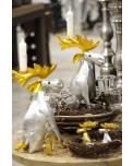 Metall Elche als Kerzenständer in Silber und Gold