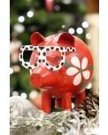 Metall Sparschwein Brillen Pig