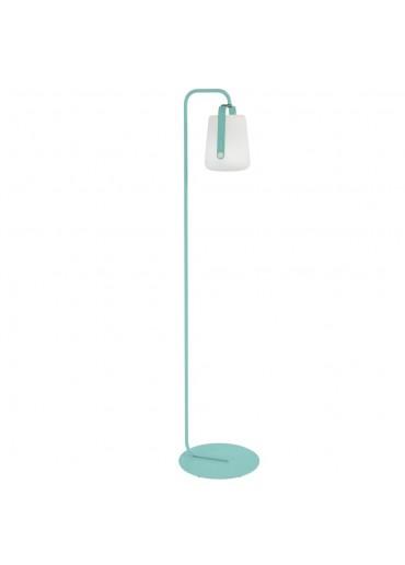 Fermob Set einfacher Standfuß und Outdoor LED Lampe Balad H25 in Lagunenblau