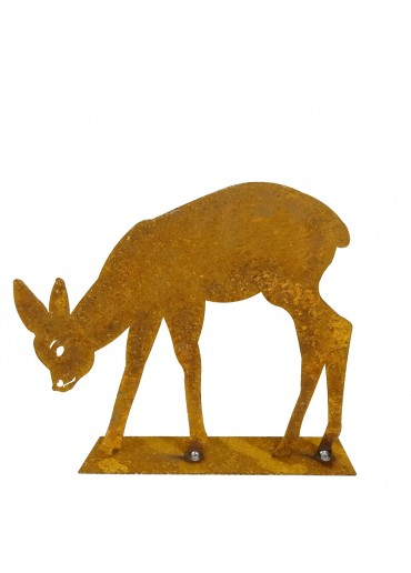 Edelrost Bambi äsend groß H20 cm