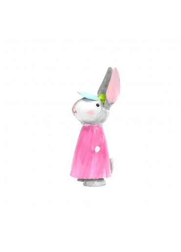 Metall Hase Lily mittel H 17 cm