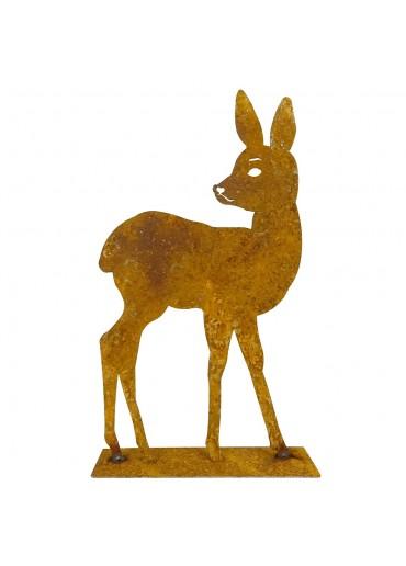 Edelrost Bambi stehend groß H30 cm