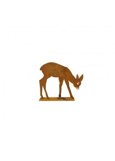 Edelrost Bambi äsend klein H10 cm