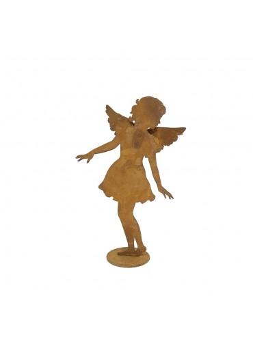 """Edelrost Engel """"Carolina"""" auf Platte klein H28 cm"""