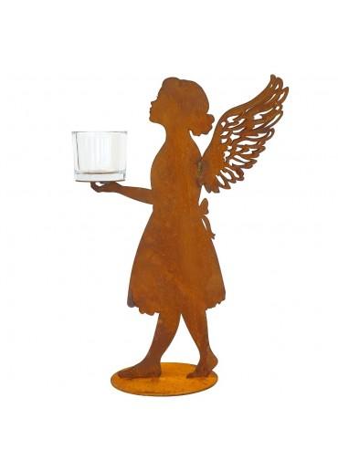 """Edelrost Engel """"Marie"""" mit seitlichen Flügeln"""