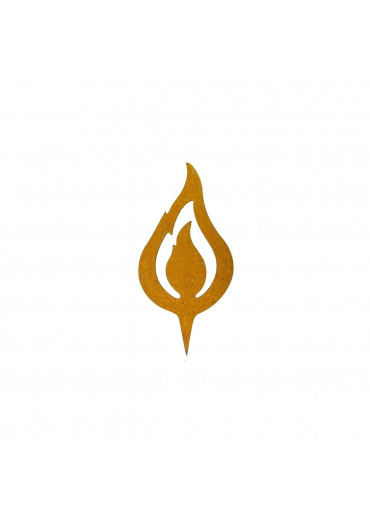 "Edelrost Flamme ""lodernd"" H10 cm"