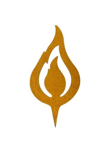 "Edelrost Flamme ""lodernd"" H20 cm"