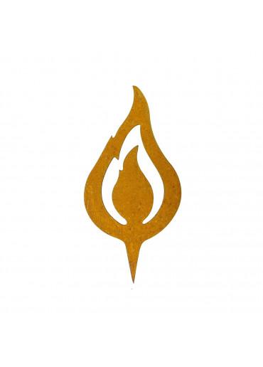 "Edelrost Flamme ""lodernd"" H15 cm"