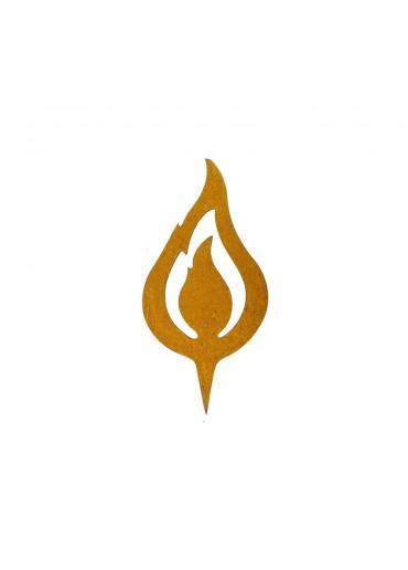 "Edelrost Flamme ""lodernd"" H12,5 cm"