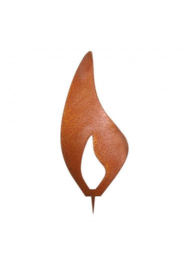 Rostige Kerzen Flamme modern H 20 cm
