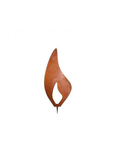 Rostige Kerzen Flamme modern H 10 cm