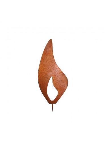 Rostige Kerzen Flamme modern H 15 cm