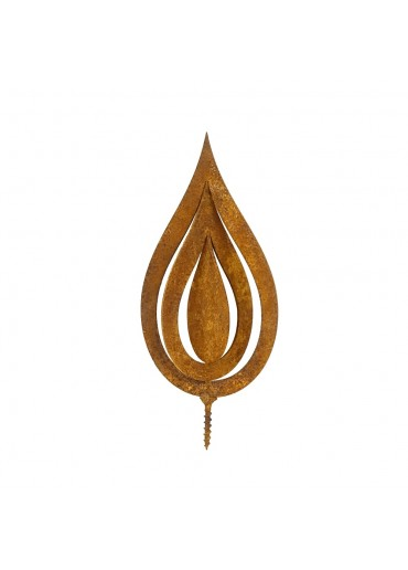 Edelrost Flamme 3D H14,5 cm