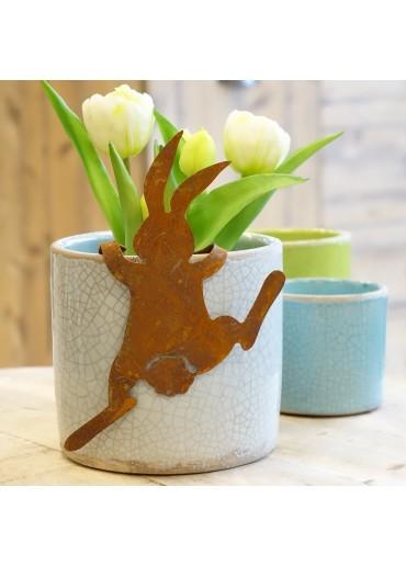 """Edelrost Hase """"Bunny"""" mittel zum Einhängen"""