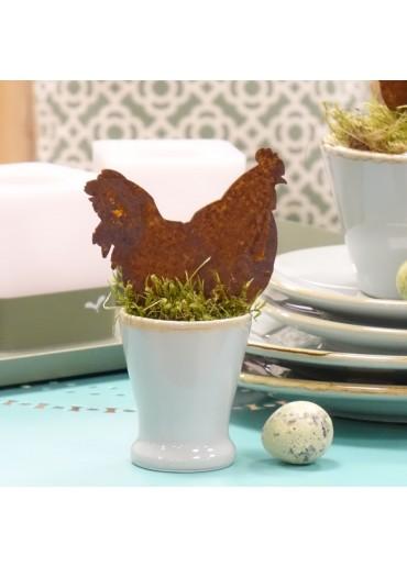 Edelrost Huhn mini zum Spießen
