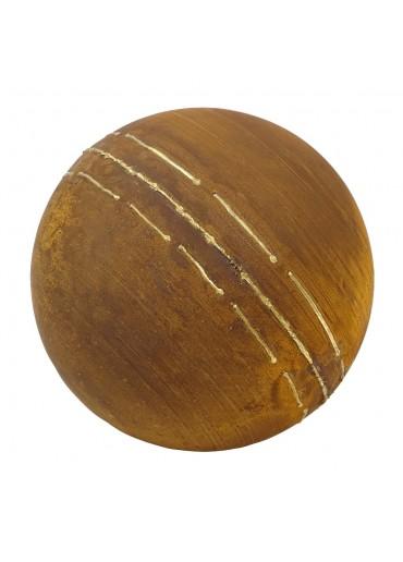 Edelrost Kugel mit unregelmäßigen Goldstreifen M Ø40 cm
