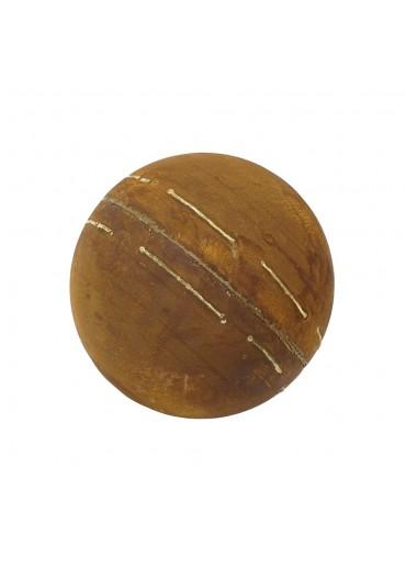 Edelrost Kugel mit unregelmäßigen Goldstreifen M Ø30 cm