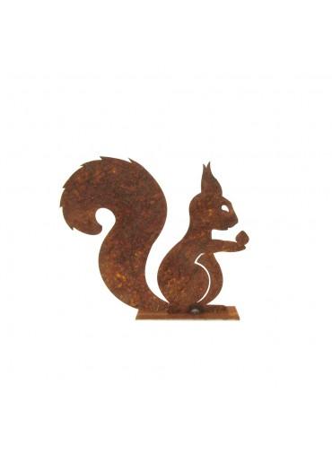 Edelrost Eichhörnchen auf Platte klein