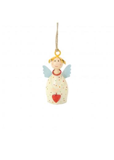 Engel Lotta mini zum Aufhängen cremeweiß
